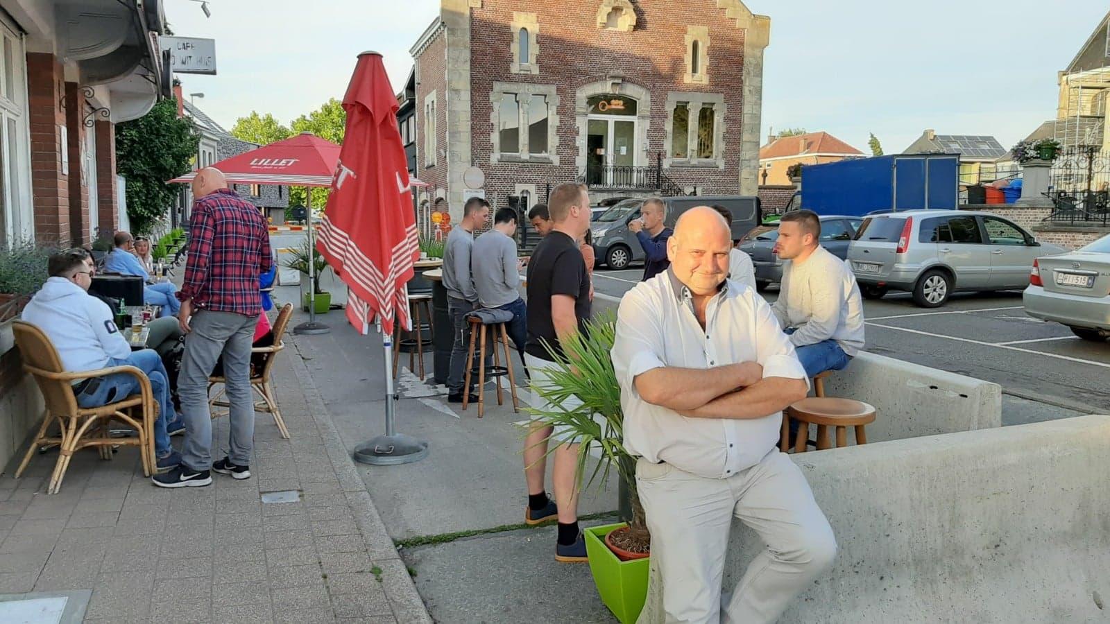 chepen Alain Triest is tevreden met het terrassenplan ten behoeve van de lokale horeca.